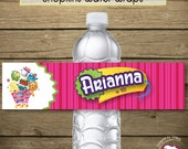 Shopkins Inspired Water Bottle Wrappers - Digital File