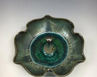 Lotus Flower Porcelain Ring Holder