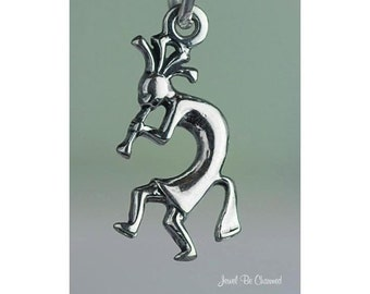 Small Sterling Silver Kokopelli Charm Native American Indian Solid 925