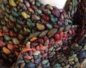 Cowl Infinity Scarf Bulky Knit Multicolored
