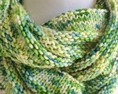Hand Knit Wool Cashmere Infinity Scarf Cowl