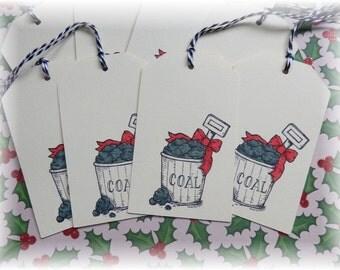 Christmas Coal - Naughty- Gift/Hang Tags (8)
