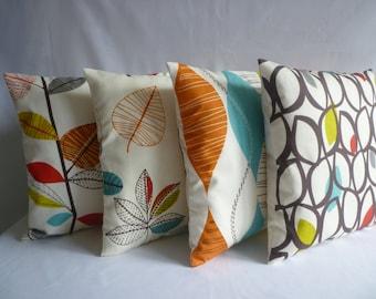 "4 x 20"" Big Orange Pillows Cushion Covers Designer Throws Slips Accent, Euro Shams"