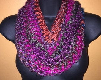 Warm, colorful cowl