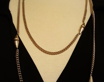 Waiting In Line at Studio 54 - Vintage Gold Tone Necklace Marked GERMANY