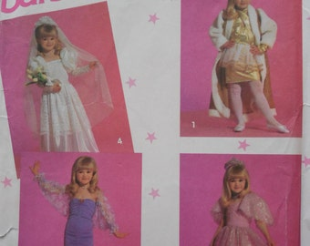 Simplicity 7430 girls Barbie dress up costume clothes