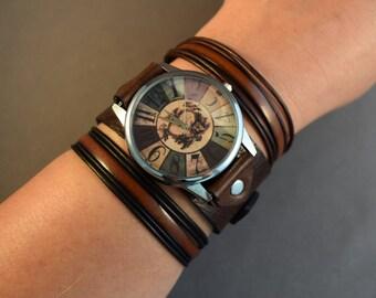 Watch For Women-Retro Watch-Gift For Women-Birthday Gift For Her-Gifts-Birthday Gift For Friend-Wrist Watch Women-Bracelet Watch-Cuff Watch