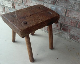 Milk Stool  - Primitive Vintage Antique Stool