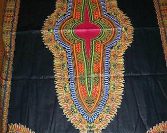 Wholesale Black and red color dashiki fabric 6 yards Textured Cotton Print/Angelina fabric/ Black dashiki dress/Dashiki skirt/Dashiki Top