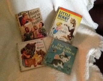 Golden Books, Lot of 4, Circa 1940's and 1950's