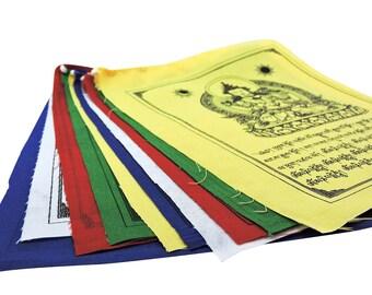Hands Of Tibet Buddha of compassion Tibetan Prayer flags set of 10 flags