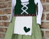 Toddler little girl dirndl