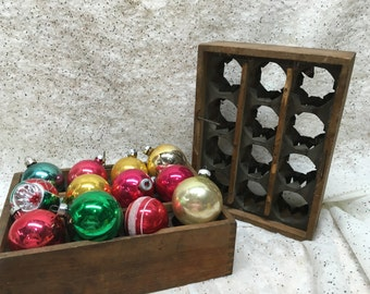 Vintage Egg Crate Carton Antique Wooden Metal One of Two