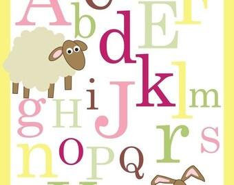 ON SALE ABC Alphabet Poster print
