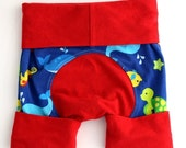 WEEKEND SALE Gender Neutral Baby Clothes, Baby Shorts, Adjustable Shorts, Grow With Me, Shortiloones, Fits 6 months to 3 years, Handmade, Re