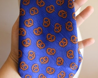 Pretzel Necktie - Kitsch - Kawaii - Cute - Foodie - Snack