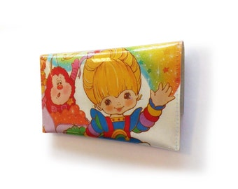 RESERVED Rainbow Brite Purse - Upcycled Vintage Comic Book in Vinyl