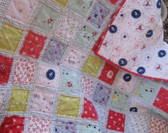 Free Shipping U.S. Only......Enchant.........A Fray Edge Quilt.....Baby/Toddler Girl...Shower or Birthday Gift.....Ready to Ship