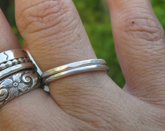 Choose Two or More Skinny Stacking Rings Sterling Silver Multiple Texture & Finish Options Mix and Match Your Custom Set