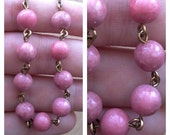 Long Beaded Rhodonite Necklace