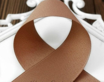 Pecan 5/8 Grosgrain Ribbon - Choose from 1-50 yd - Solid Brown, Chipmunk, Chocolate Grosgrain Ribbon - Hairbow Supplies, Etc.