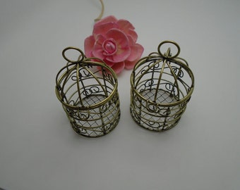 2 colors for choice---10 pieces 75mmx45mmx45mm metal bird/bird cage charm/pendant for jewelry