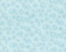 Lecien - Rococo Sweet 2015 Tone on Tone Aqua Blue Floral Collection 31139-10 - cotton quilting fabric - BTY