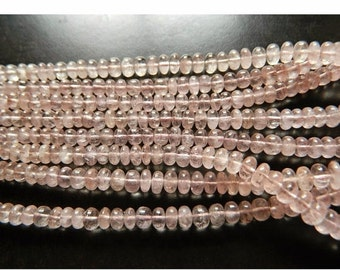 45% ON SALE Morganite Bead, Morganite Jewelry, Morganite Stone, Morganite Necklace, 6mm To 9mm Each, 105 Pices Approx, 16 Inch Strand