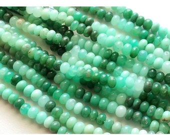 55% ON SALE Chrysoprase Rondelle, Chrysoprase Beads, Shaded Chrysoprase, Finest Quality AAA Chrysoprase Beads, 7mm Beads, 7 Inch Half Strand