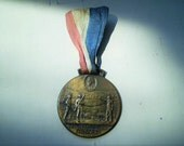 Jackson Centennial Celebration 1829 1929 - American Medal with Red, White & Blue Ribbon - Bronze Badge Pin Fob