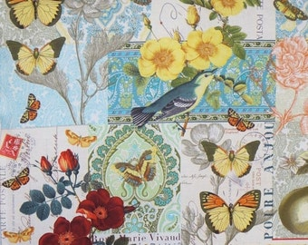 ON SALE Anjou for You Collage Print Pure Cotton Fabric from Michael Miller--One Yard