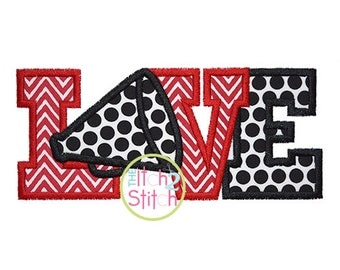 "Megaphone love 2 Applique Design For Machine Embroidery Size(s) 4x4, 5.5"", 5x7 & 6x10 INSTANT DOWNLOAD now available"