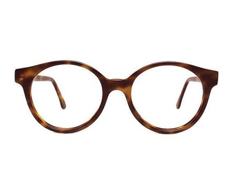 Brown Tortoise Matte Vintage Eyeglasses - round glasses Sting Habana