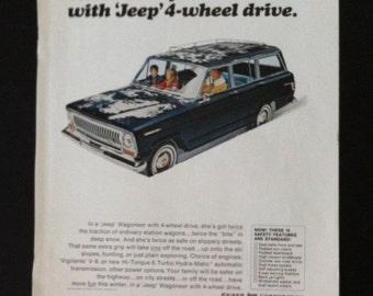 Vintage Jeep Wagoneer Ad