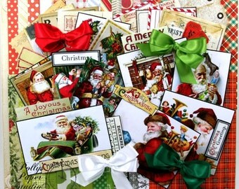 Jolly St. Nick Creativity Kit 2016 Paper IMages Bow Polly's Paper Studio 66 Piece Set