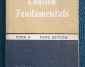 Vintage 1950's English Textbook