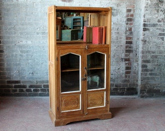 Bar Cabinet Vintage Bookcase Lawyers Cabinet Kitchen Cupboard Media Cabinet China Cabinet Dining Room Boho Interior Office Furniture Curio