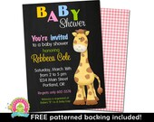 Baby Shower Invitation - Baby Shower Invite - Jungle Baby Shower Invitation - Jungle Baby Shower Invite - Giraffe Baby Shower Invitation