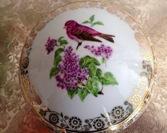 Enchanting French Limoges Porcelain Trinket or Powder Box, From France, Elegant, Boudoir, Vintage Charm, Cottage, Shabby Chic