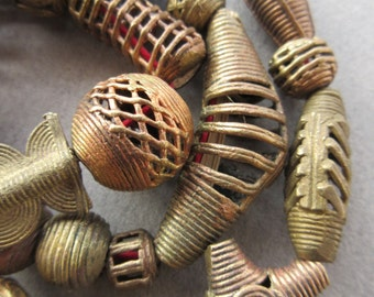 Mixed African Brass Beads