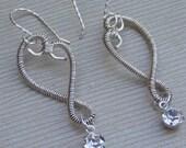 Heart earrings, Anniversary jewelry, engagement jewelry, wedding jewelry, valentine's jewelry, love jewelry, heart jewelry,