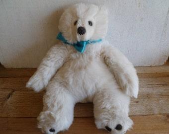 Vintage White Teddy Bear Plush