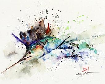 SAILFISH Watercolor Print, Fish Art, Marlin Painting,  by Dean Crouser