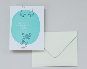 Letterpress Card- You're A Fantastic Dad
