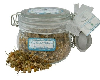 Purely Chamomile Herbal Tea - Glass with Infuser
