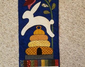 Simply Spring Quilted Wallhanging; license design by Pam Puyleart