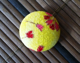 Japanese Cover Buttons 30mm Yellow
