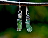 Roman Glass Earrings. Green Roman Glass. Silver Earrings. Ancient Roman Glass. Roman Glass Jewelry. Jewellery Made in Israel. Free Shipping