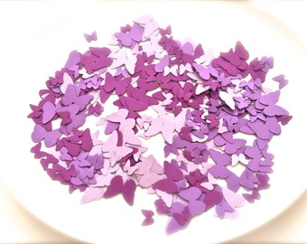 Mixed Purple Butterfly Confetti Die Cut Paper Punch