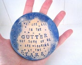 We are all in the Gutter jewellery dish / ring-bearer dish. Made in Wales, UK. Blue.